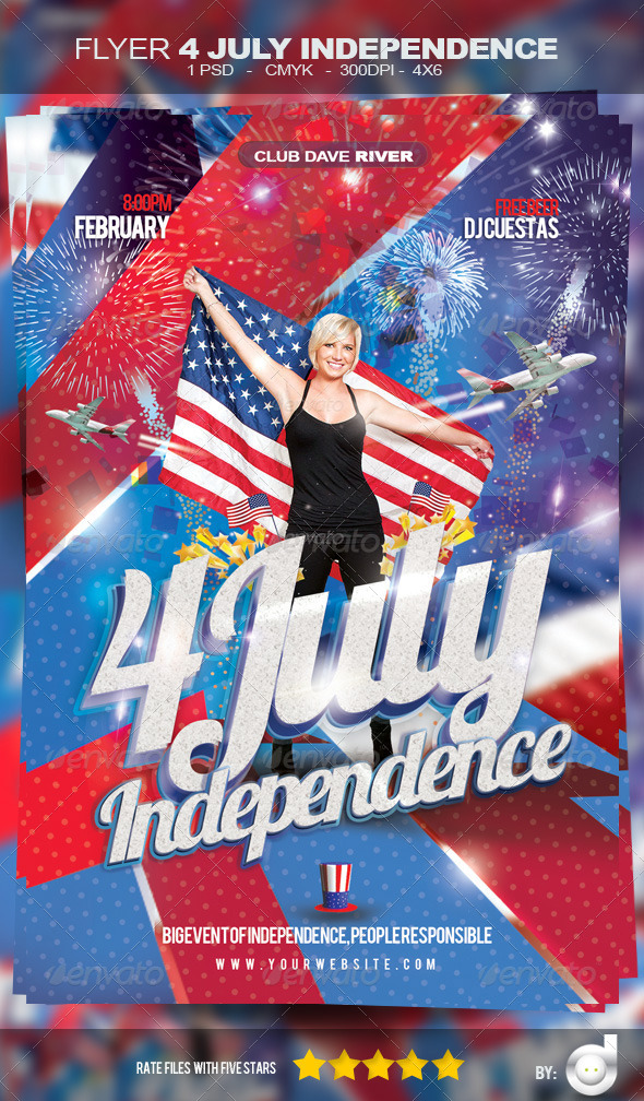 Flyer Independence Day - Template by david82flash GraphicRiver - independence day flyer