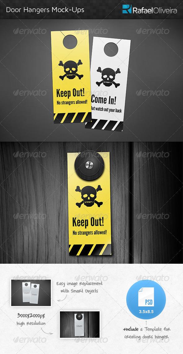 Door Hanger Mock-Ups by RafaelOliveira GraphicRiver