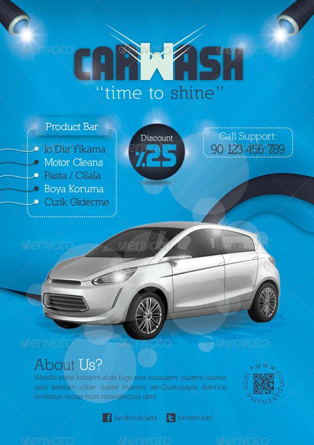 Car Wash Flyer Template by grafilker GraphicRiver - car wash flyer template