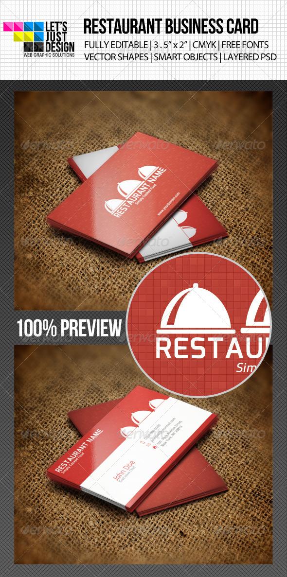 Restaurant Business Card by letsjustdesign GraphicRiver