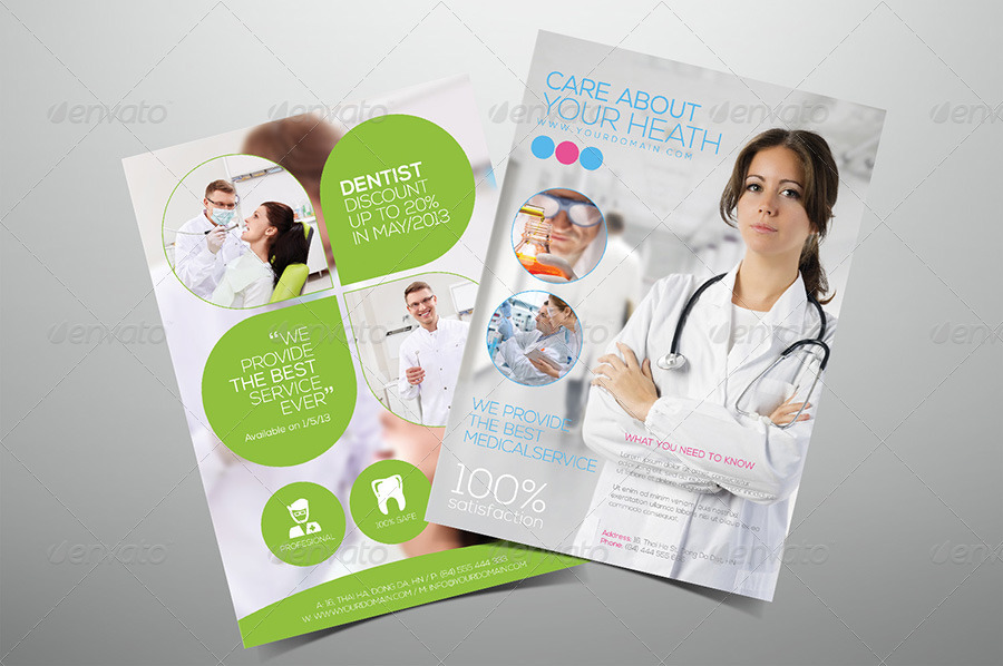 Premium Medical Flyers by hoanggiang12 GraphicRiver