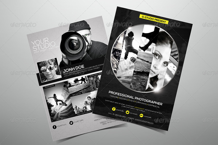 Premium Photography Flyer by hoanggiang12 GraphicRiver - Photography Flyer