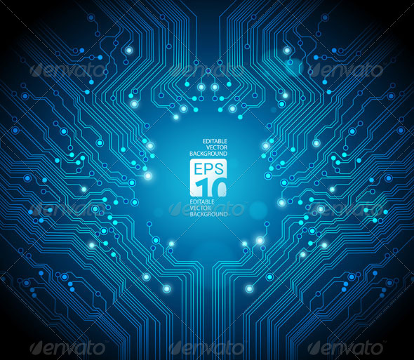 Abstract Circuit Board Background - 2 by silvertiger GraphicRiver - circuit design background