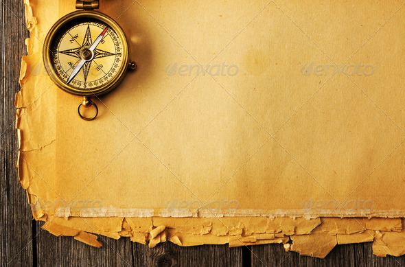 Panic At The Disco Wallpaper Hd Antique Brass Compass Over Old Background Stock Photo By