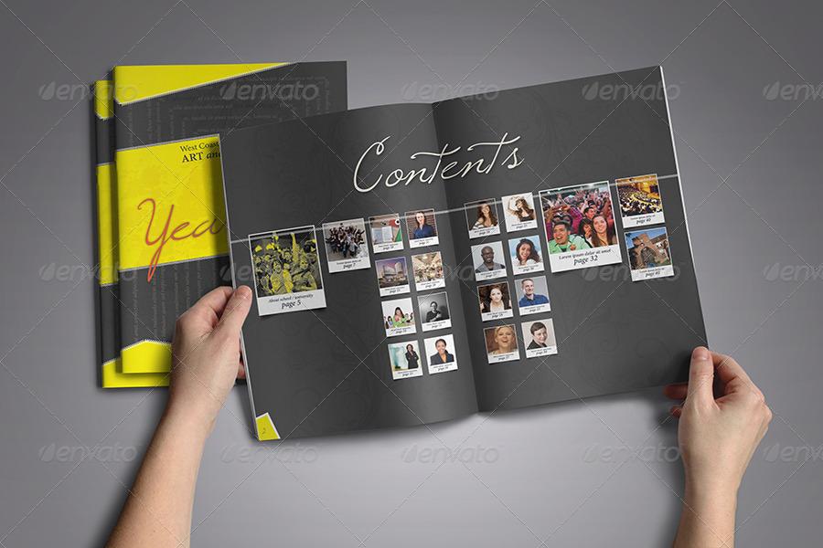 yearbook flyer template