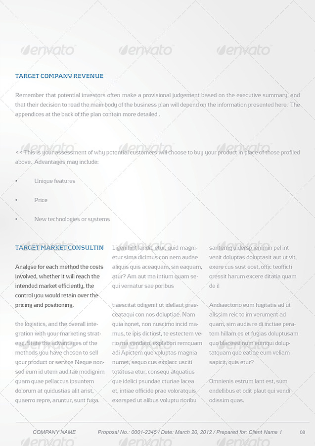 Proposal Template Package by Unicogfx GraphicRiver - price proposal template