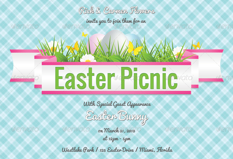 Easter Picnic Invitation \u2013 Merry Christmas And Happy New Year 2018 - easter invitations template