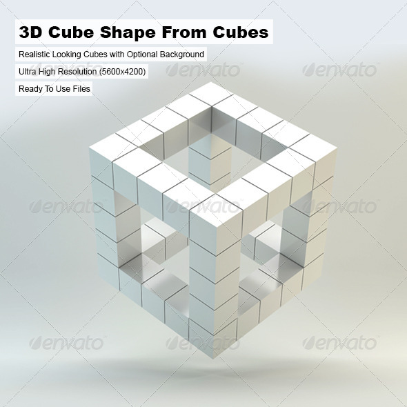 3D Cube Shape From Cubes by arquitectostyles GraphicRiver