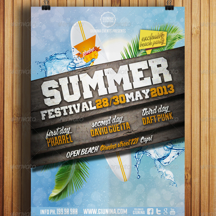 A4 Format Cm Summer Festival Flyer Vol.1 By Giunina | Graphicriver