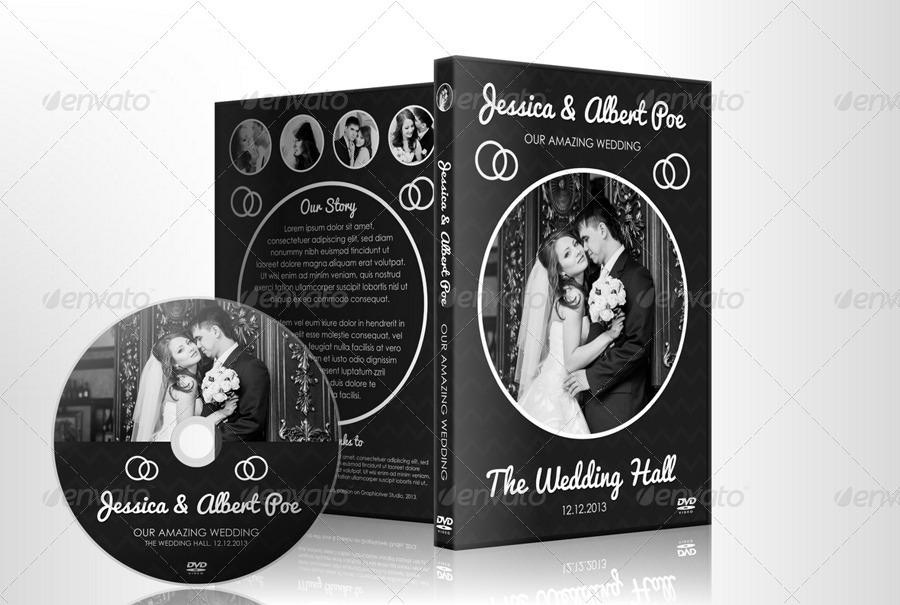 Elegant Dark Wedding DVD / Blu-ray Cover Template by vinyljunkie