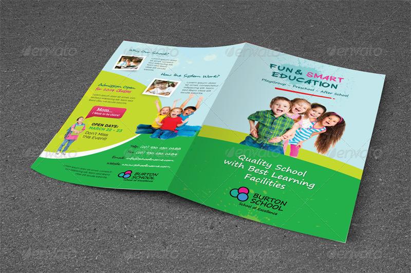 Junior School Trifold  Bifold Brochures by kinzi21 GraphicRiver