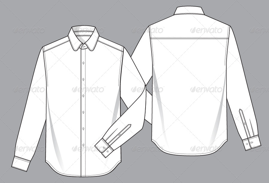 Mens Shirt Template by Monoapple GraphicRiver