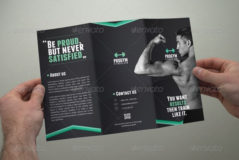 Fitness Brochure Tri-Fold by coxsumon GraphicRiver - Fitness Brochure