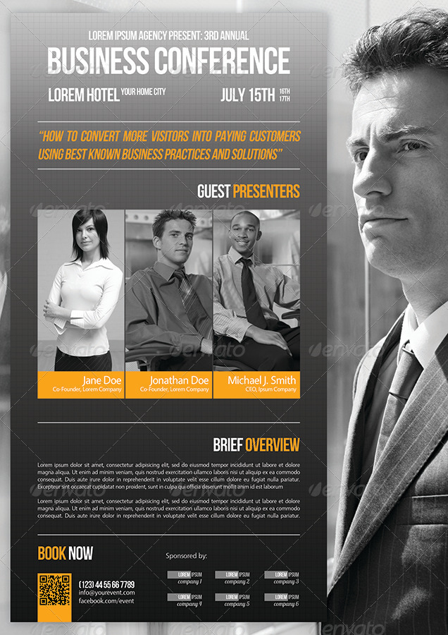 Business Conference Flyer Template 07 by petumDesign GraphicRiver - conference flyers templates free