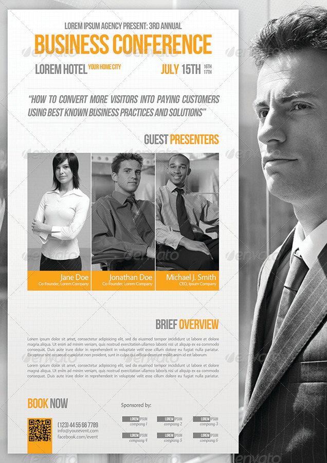 Business Conference Flyer Template 07 by petumDesign GraphicRiver - seminar flyer