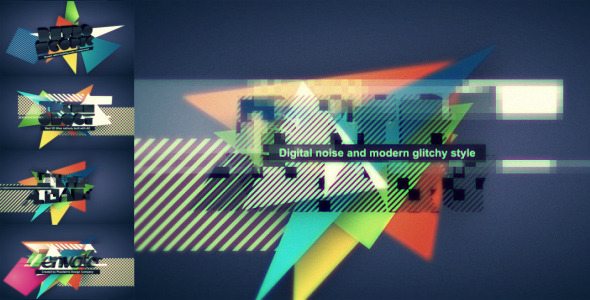 Digital Retro Title / Logo opener by placdarms VideoHive