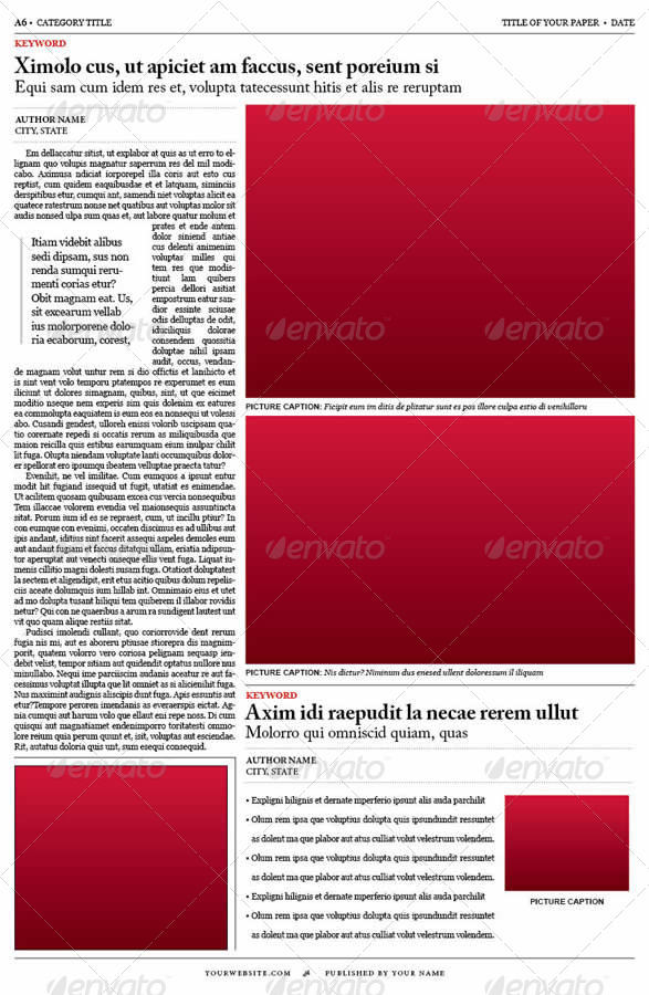 Old Style Newspaper Template by tedfull GraphicRiver - old newspaper template