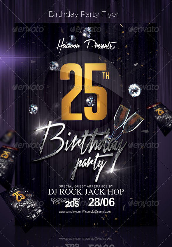 Birthday Party Flyer by haicamon GraphicRiver