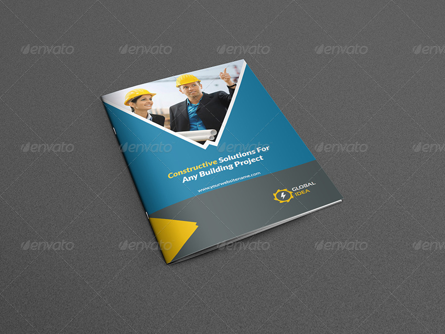 Construction Business Brochure Template - 8 Pages by OWPictures