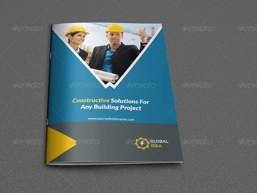 Construction Business Brochure Template - 8 Pages by OWPictures - Company Brochure Templates