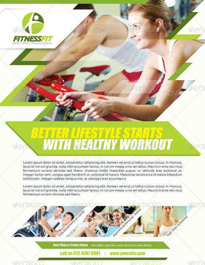 Fitness Flyer Vol2 by kitcreativestudio GraphicRiver - fitness flyer