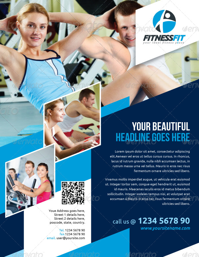 Fitness Flyer Vol4 by kitcreativestudio GraphicRiver
