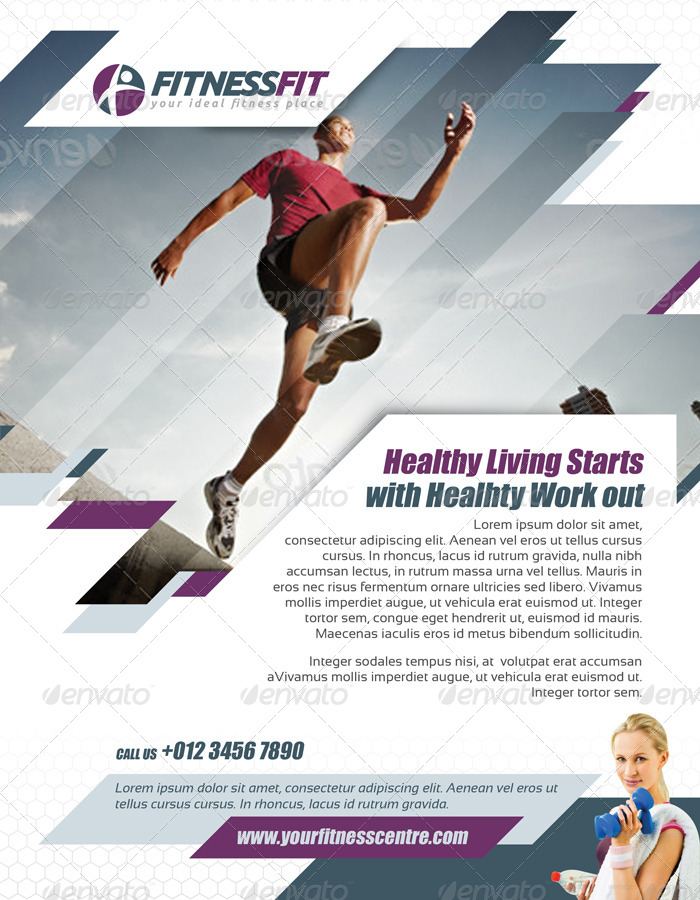 Fitness Flyer Vol1 by kitcreativestudio GraphicRiver