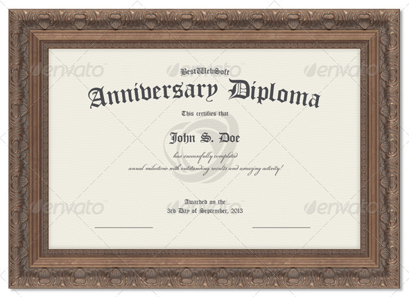 Anniversary Diploma Certificate by bestwebsoft GraphicRiver