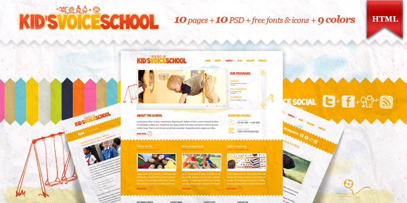 Kids Voice School - HTML Template by Aislin ThemeForest