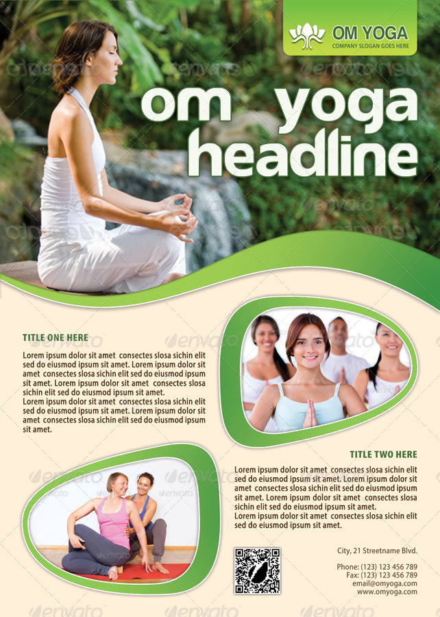 Yoga Flyer Template 01 by 21min GraphicRiver - yoga flyer