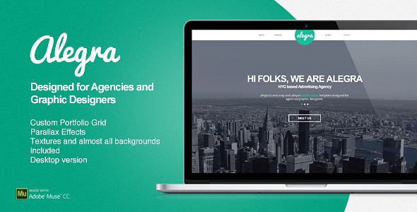 Alegra - Portfolio Muse Theme by EAMejia ThemeForest