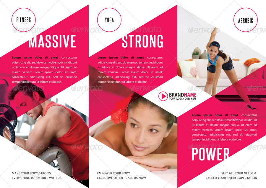 Gym Fitness Brochure Templates Fitness Brochure Physical Fitness