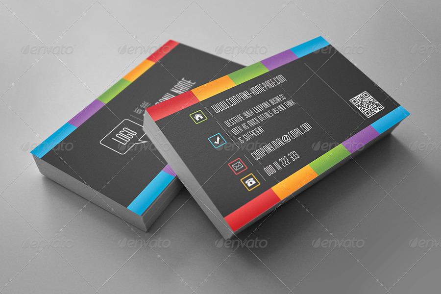 Dark Rainbow Business Card by eldis_design GraphicRiver