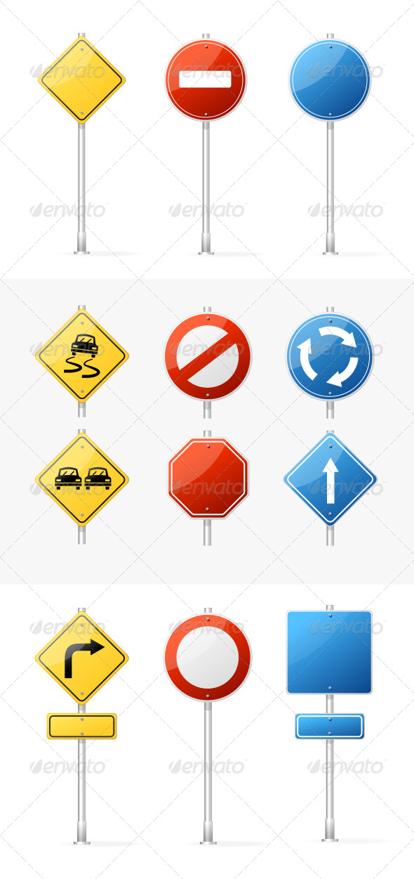 Traffic Sign Graphics, Designs  Templates from GraphicRiver