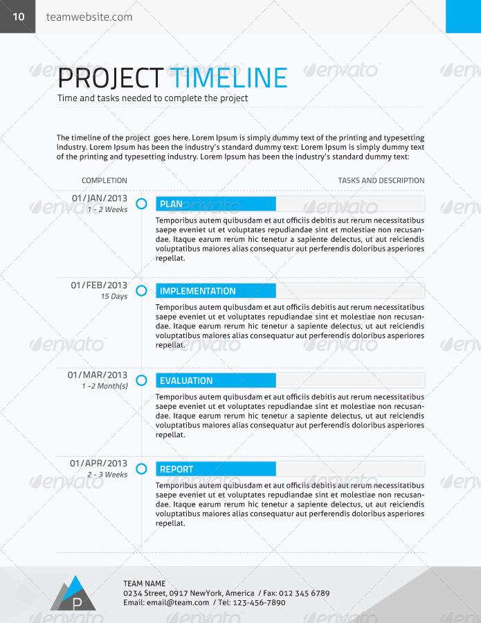 Corporate Proposal + Contract + Invoice by yordstudio GraphicRiver