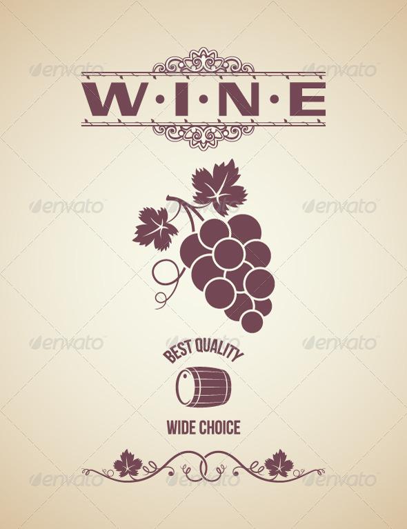 Wine Vintage Label Design by Pushkarevskyy GraphicRiver