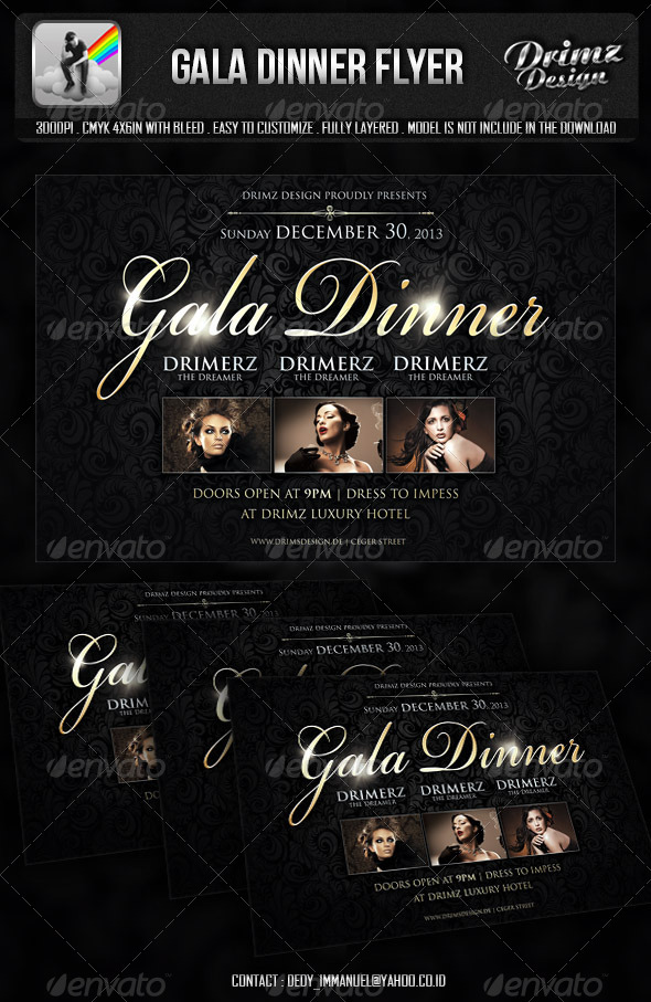 Gala Dinner Flyer by drimerz GraphicRiver - Dinner Flyer