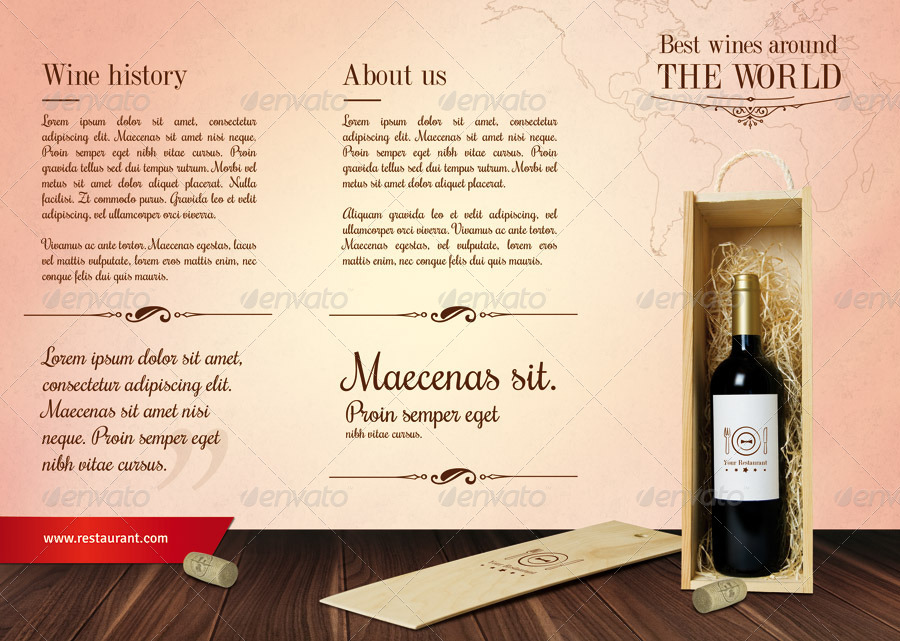 Wine / Restaurant Tri-Fold Menu by out00 GraphicRiver