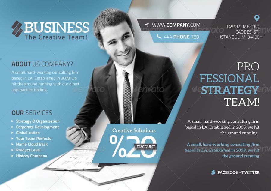 Corporate Flyer Template by grafilker GraphicRiver - corporate flyer template