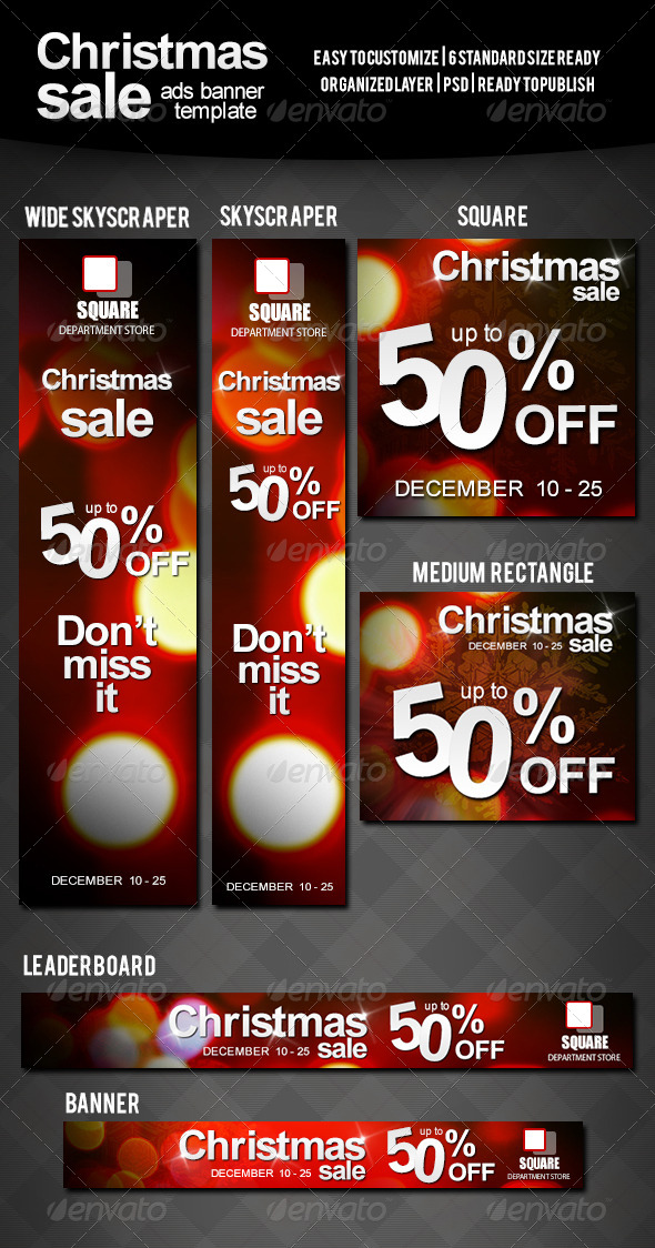 Christmas Sale Ads Banner by uzack01 GraphicRiver