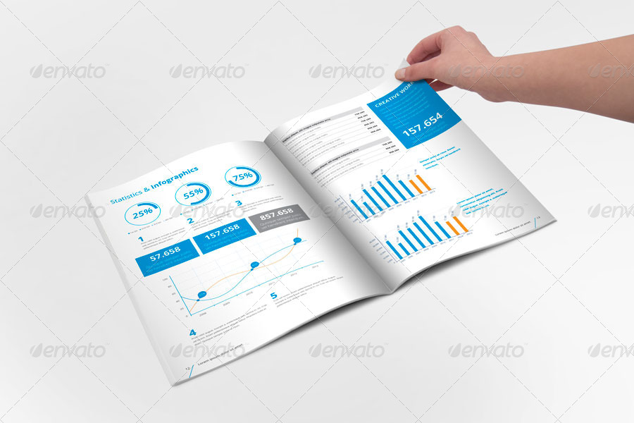 Annual Report Brochure Indesign Template by Braxas GraphicRiver - annual report template