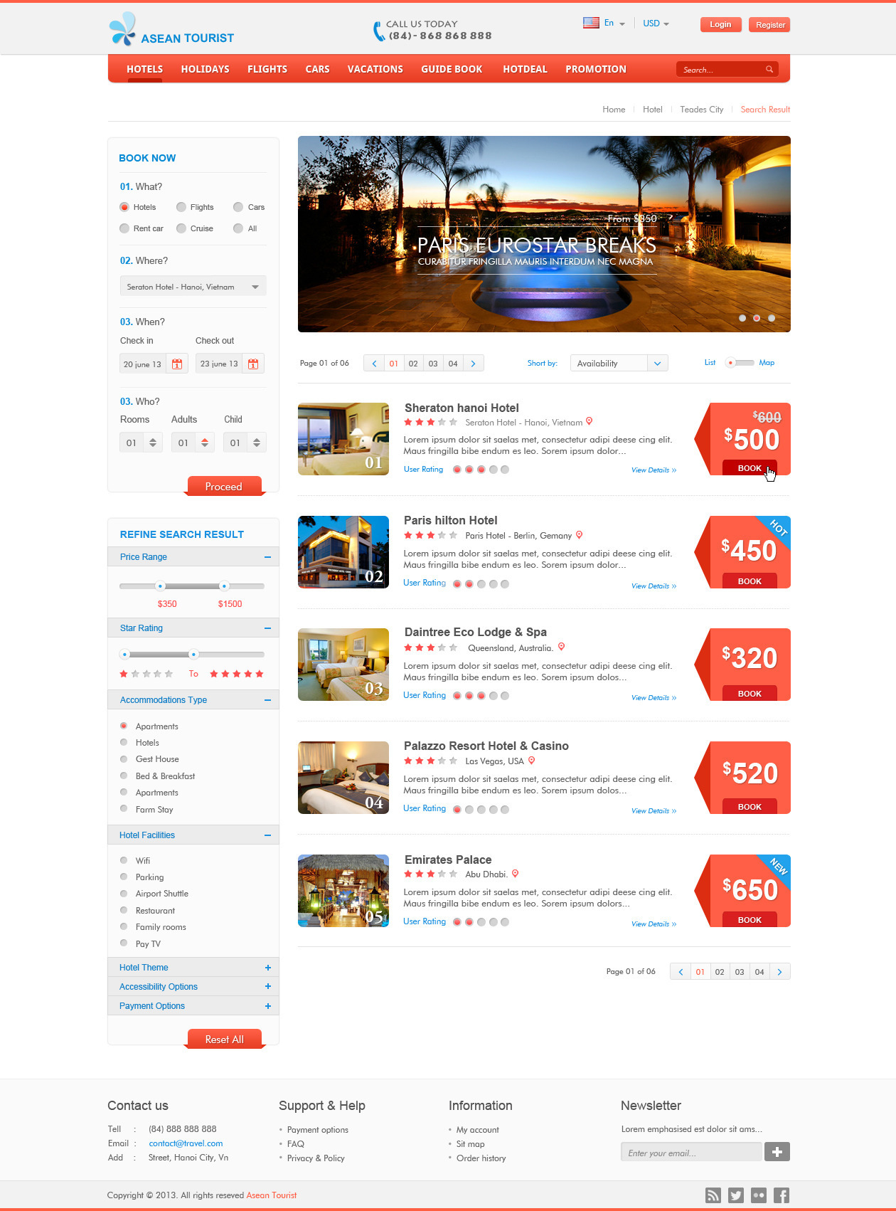 Booking Site Atourist Hotel Travel Booking Site Template