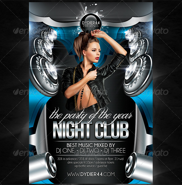 Night Club (Flyer Template 4x6) by Dydier44 GraphicRiver