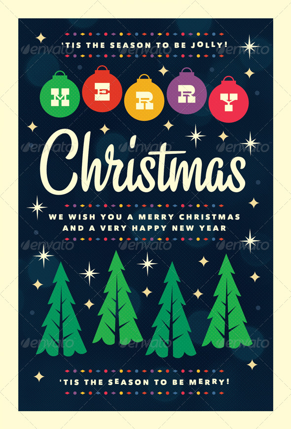Merry - Christmas Flyer Template by furnace GraphicRiver