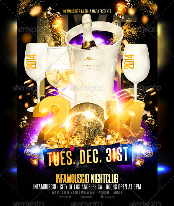New Years Eve by infamousgio GraphicRiver