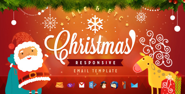 Christmas - Responsive Email Template by ahmeng ThemeForest - template for christmas