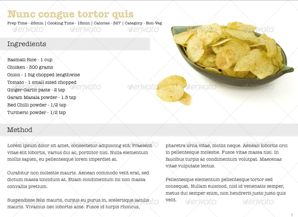 Cookbook Template for iBooks Author by mancierauthan GraphicRiver