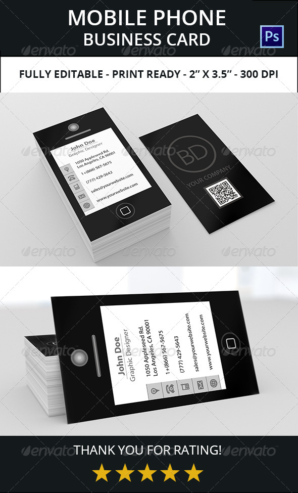 Mobile Phone Business Card 1 by bdent GraphicRiver