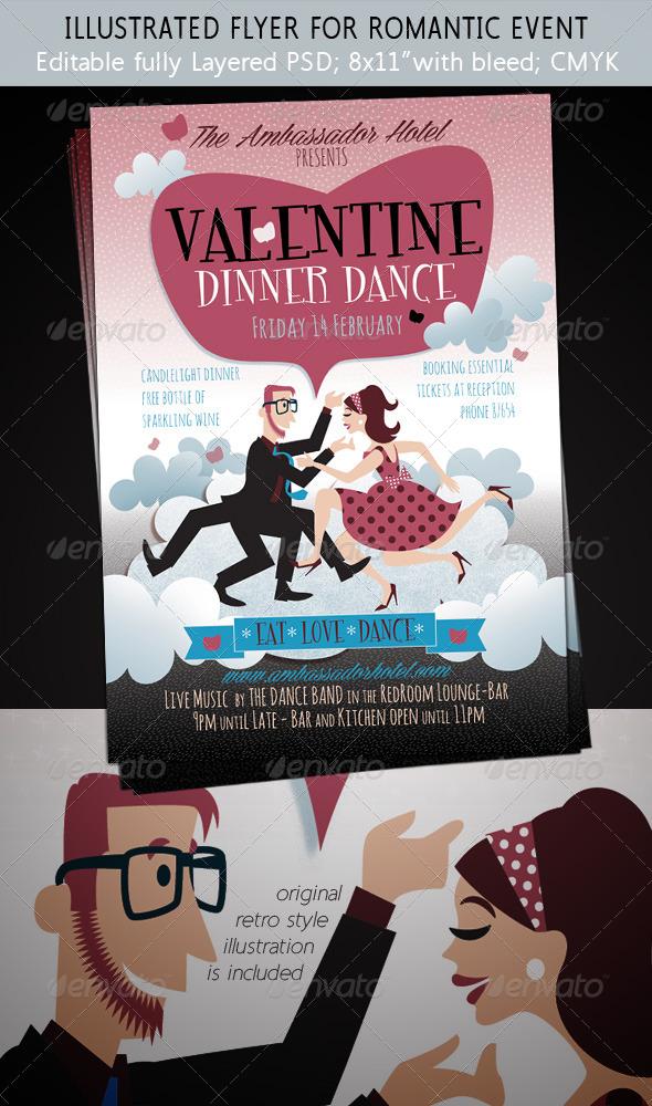dinner dance flyer templates