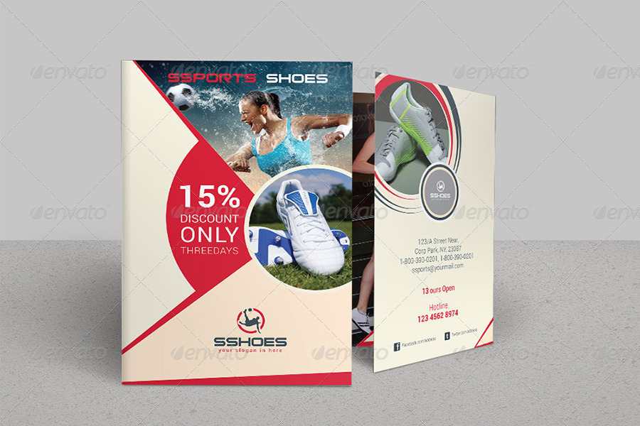 Sports Business Bi-Fold Brochure Volume 2 by dotnpix GraphicRiver - sports brochure